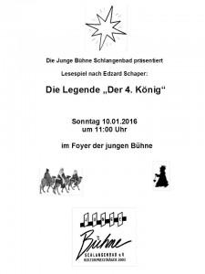 Lesung der vierte König Plakat